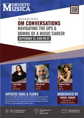 OM Conversations Navigating the ups and downs of a music career poster